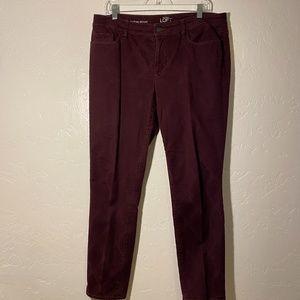 Ann Taylor Loft modern skinny jeans, size 32/14.